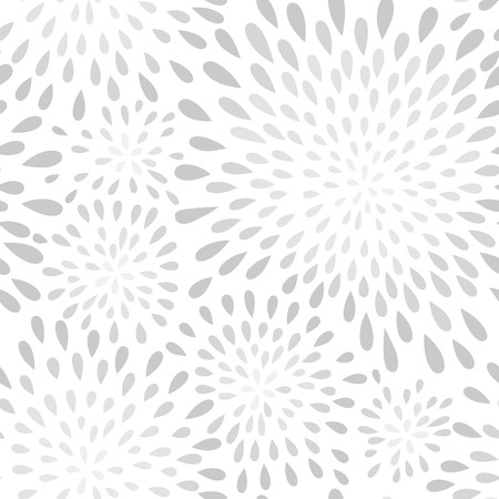 graphic background: Abstract firework splash dot seamless pattern. Swirl floral petal texture. Water-drop spot ornament. Ornamental wave background. Illustration