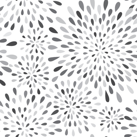 waterdrop: Abstract firework splash dot seamless pattern. Swirl floral petal texture. Water-drop spot ornament. Ornamental wave background. Illustration
