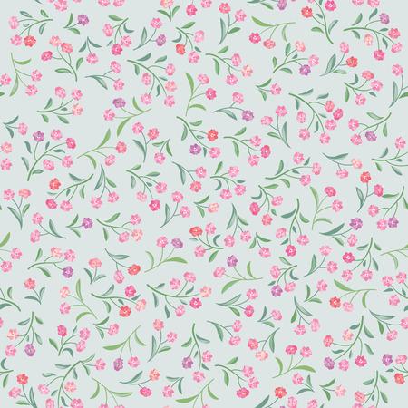 Floral  pattern. Flower seamless background. Flourish ornamental garden Illustration