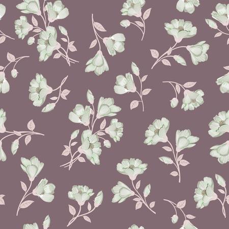 petal: Floral pattern. Flower seamless background. Flourish ornamental garden