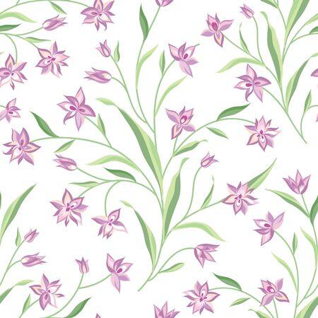 botanical gardens: Floral seamless pattern. Flower background. Summer nature seamless texture. Flourish garden wallpaper