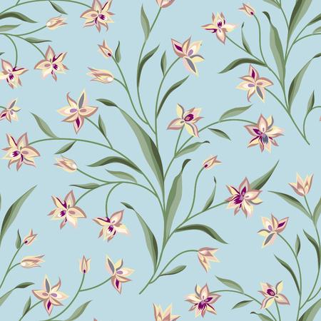 summer nature: Floral seamless pattern. Flower background. Summer nature seamless texture. Flourish garden wallpaper