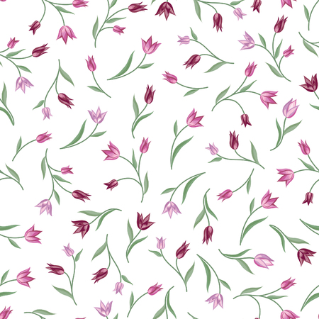 wildflowers: Floral pattern. Flower seamless background. Flourish ornamental garden