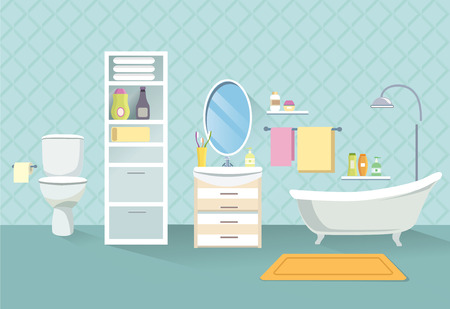 Line Art Bathroom Furniture : Toilet room furniture bathroom interior line sketch royalty free