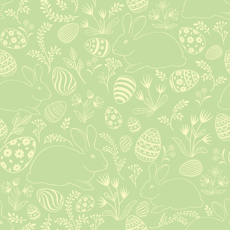 Easter floral texture. Egg seamless pattern. Spring holiday background for printing on fabric, paper for scrapbooking, gift wrap and wallpapers.