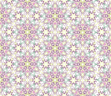 oriental rug: Flourish tiled pattern. Floral oriental ethnic background. Arabic ornament with fantastic flowers and leaves. Wonderland motives of the paintings of ancient Indian fabric patterns.