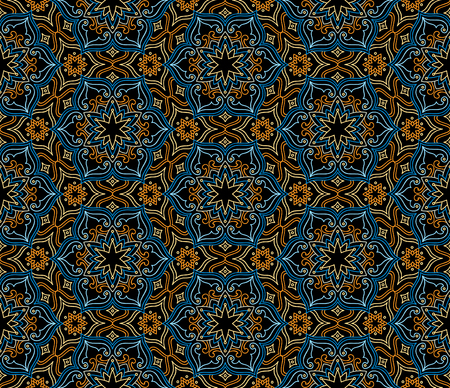 oriental rug: Abstract oriental floral seamless pattern. Flower geometric ornamental background. Floral ethnic tiled ornament with flowers.