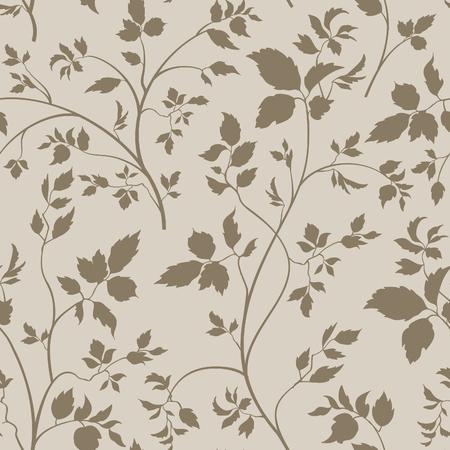 motif floral: Motif floral sans couture. Branche avec des feuilles décoratives. Flore la texture du jardin naturel