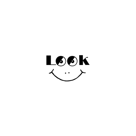 Smile sign. Look at me smily symbol. Good mood icon with smiling face