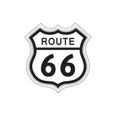 여행 미국 로그인하십시오입니다. 국도 66 라벨. 미국 도로 아이콘
