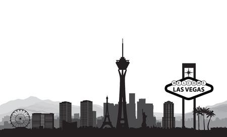 Panoramę Las Vegas. Podróży tło gród amerykańskiego miasta. Miejski pejzaż. Krajobraz USA