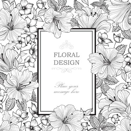 Floral background. Garden Flower bouquet. Spring nature pattern. Greeting card decor 일러스트