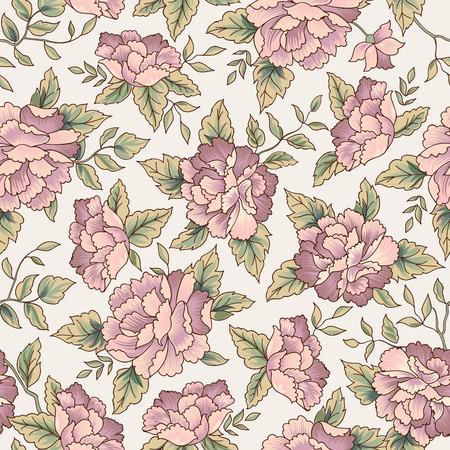 Floral pattern. Flower seamless background. Flourish ornamental garden