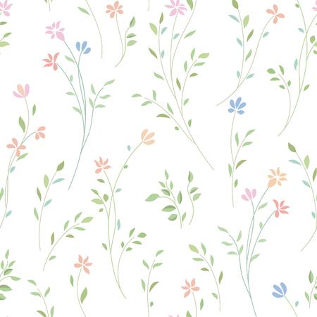 Floral seamless pattern. Flower background. Flourish ornamental garden Vector Illustration