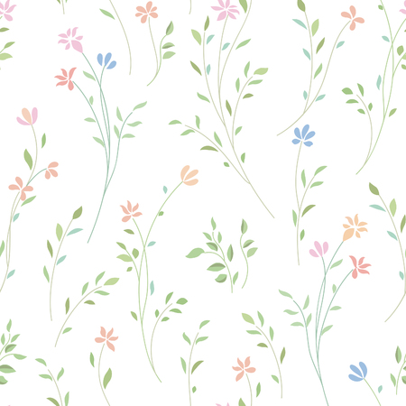 Floral seamless pattern. Flower background. Flourish ornamental garden