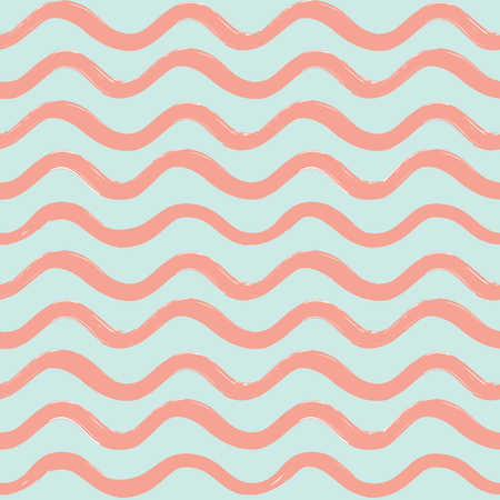Abstract wave seamless pattern, stylish geometric background. Wavy line ornamental wallpaper, water wave line stripe texture. Illustration