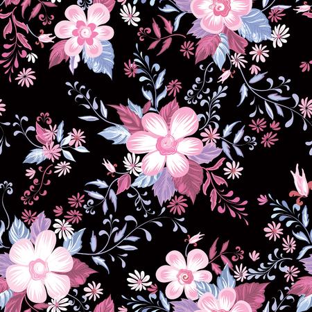 Motif floral sans soudure. Fond de fleur. Fond d'écran d'été ornemental avec des fleurs. Vecteurs