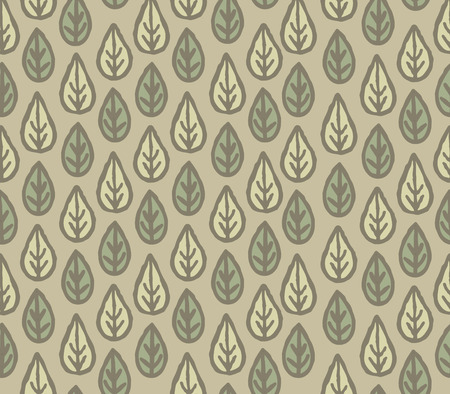 Floral leaf seamless pattern. Ornamental leaves motives of the paintings of ancient fabric patterns.