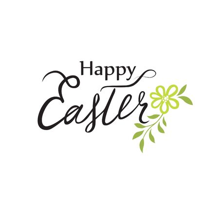 Happy Easter greeting card. Holiday decorative bakground with Easter eggs
