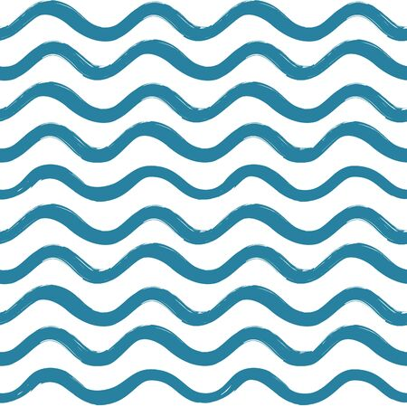 Abstract wave seamless pattern. Stylish geometric background. Wavy line ornamental wallpaper.  Water wave line stripe texture  Illustration