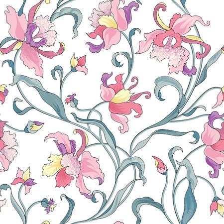 Floral seamless pattern. Flower background. Flourish garden texture with flowers.