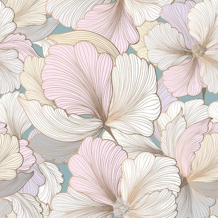 Motif floral sans soudure. Fond de fleurs. Fleurir la texture du jardin avec des fleurs.