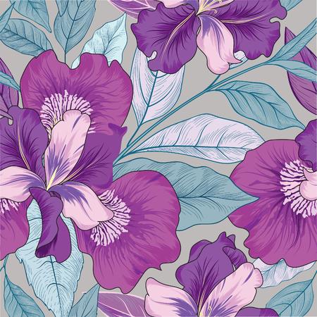 Motif floral sans soudure. Fond de fleurs. Fleurir la texture du jardin avec des fleurs. Vecteurs