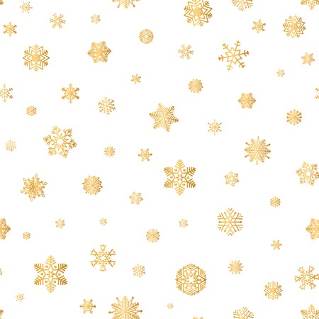 Christmas icons seamless pattern, Doodle outline ornamental Nature Decor elements.
