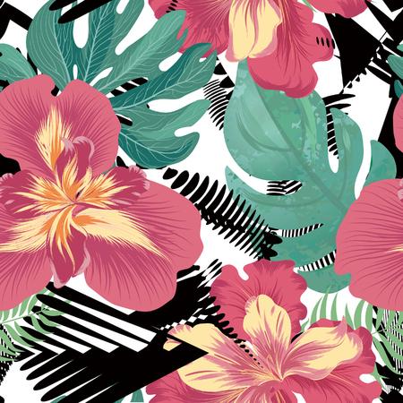 Floral seamless pattern. Flower background. Flourish garden texture with flowers iris. Flourish nature garden textured wallpaper