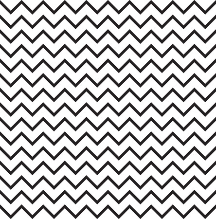 Abstact seamless pattern. Zig-zag line texture. Diagonal line black and white ornament. Illustration