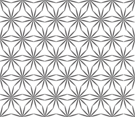 Abstact seamless pattern. Star shape floral texture. Dot ornament in ethnic oriental style