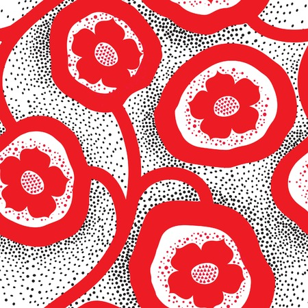 Abstract floral ornamental pattern. Flower seamless background