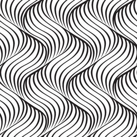 Wavy line seamless pattern. Geometric fabric print texture. Abstract tiling background. Wave tiling line ornamental wallpaper.