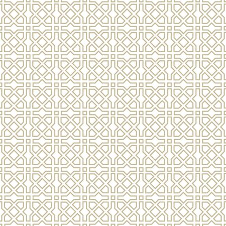 Arabic ornament with geometric shapes. Abstract motives of the paintings of ancient Indian fabric patterns. Abstract seamless pattern. Vettoriali