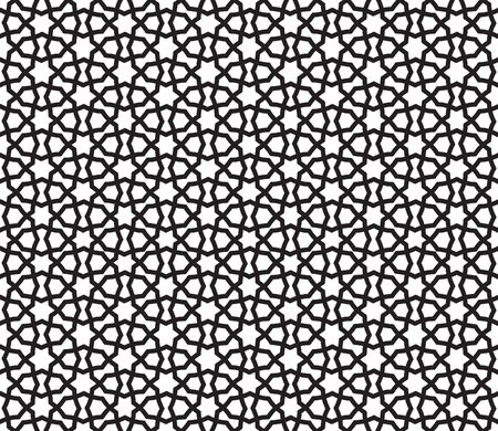 Arabic ornament with geometric shapes. Abstract motives of the paintings of ancient Indian fabric patterns. Abstract seamless pattern.