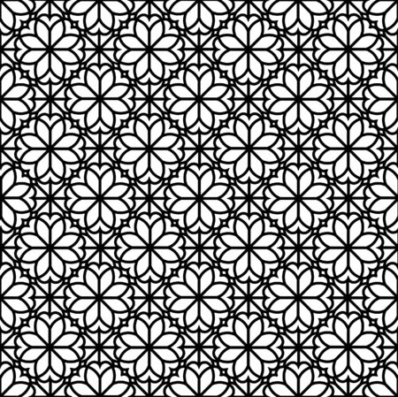 Arabic floral ornament with geometric shapes. Abstract motives of the paintings of ancient Indian fabric patterns. Abstract seamless pattern.