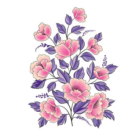 Floral background. Flower rose bouquet isolated. Flourish spring floral greeting card design Illustration