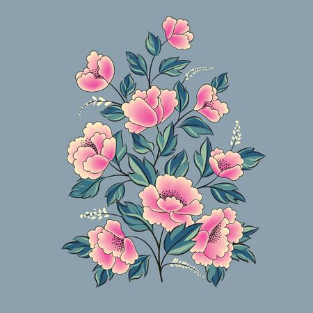 Floral background. Flower rose bouquet isolated. Flourish spring floral greeting card design 向量圖像