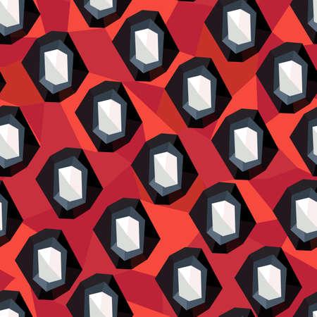 Abstract geometric modern ornament. Seamless geometrical pattern