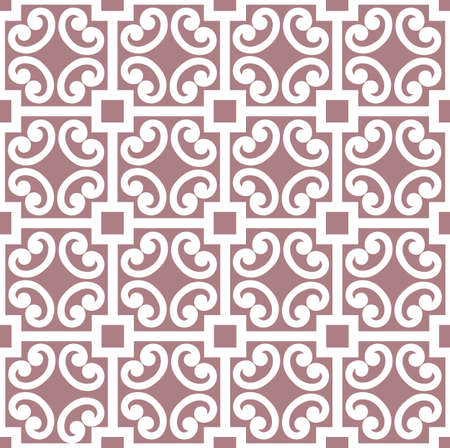 Abstract floral asian ornament. Seamless geometric pattern with swirl line ornament in oriental style. 向量圖像