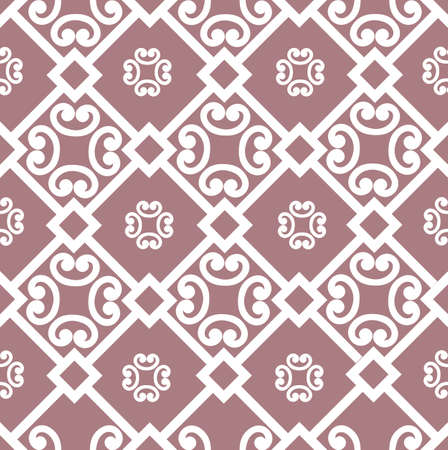 Abstract floral asian ornament. Seamless geometric pattern with swirl line ornament in oriental style. 版權商用圖片