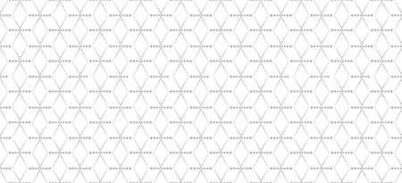 Abstract geometric pattern. Seamless doted line backdrop. White and black ornament. Graphic modern pattern. Simple stylish graphic design background.