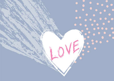 Love heart hand drawn sign. Valentines day icon Holiday background. Greeting card design.  Valentine's day holiday abstract decor element. Good for greeting card design 向量圖像