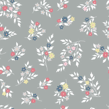 Floral seamless pattern. Flower bluebell background. Floral seamless texture with flowers. Flourish tiled wallpaper