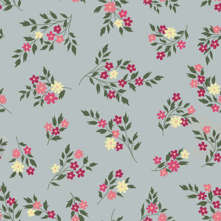 Floral seamless pattern. Flower background. Floral seamless texture with flowers. Flourish tiled decorative drawn ornamental wallpaper.