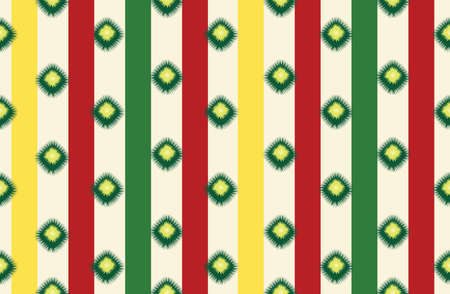Abstract ethnic geometric seamless pattern. Wrapping ornamental stripy print. Wallpaper tribal decor. Traditional ikat striped folk background. Ethnic stripe motif for wrapping, wallpaper, fabric, textile, embroidery