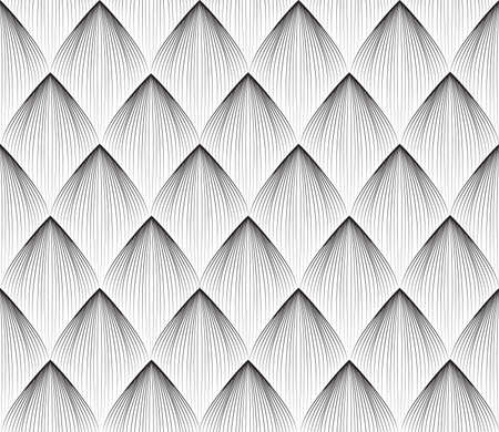 Abstract geometric pattern with stripe lines. Artistic floral line ornamenal tile background. Black and white organic shape texture. 向量圖像