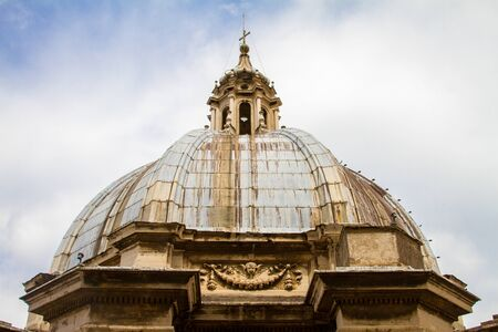 the old church: old church at rome, italy Stock Photo