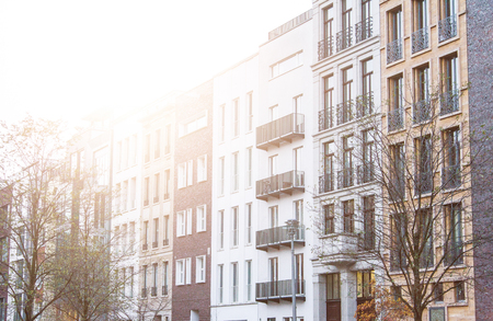 townhouses: modern townhouses at berlin, germany Stock Photo