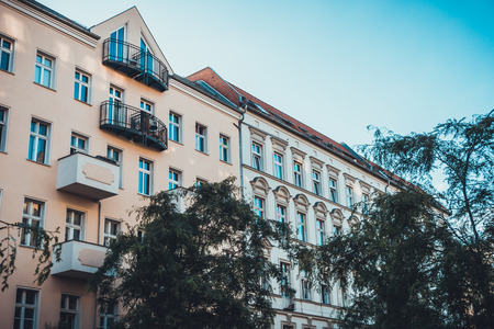 real estate building at prenzlauer berg at berlin